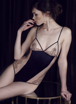 The sheer material and delicate embroidered panels of this beautiful desire silk body combine to create a seductive piece to enhance the female form.