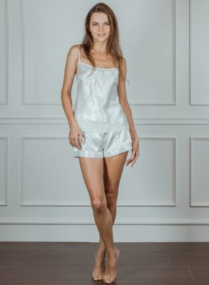 Now 50% off! Zumruduanka Juliette Satin Allure Camisole and Shorts Set will keep you cool and comfortable whilst looking irresistable. Made in Istanbul.