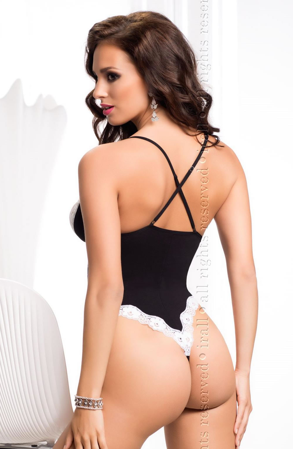Show off your cheeky side. A wildly erotic Alexis body made from black viscose, which is very comfortable to wear.