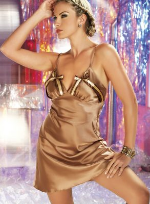 Noa is a beautiful soft and silky nightdress, made in sumptuous Italian cappuccino coloured satin.