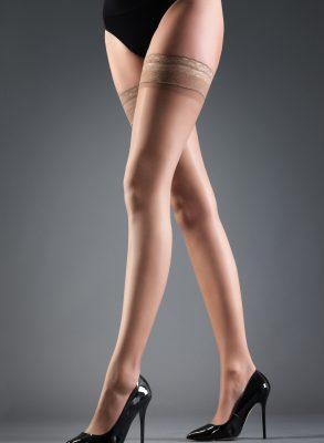 ถุงน่องผ้าลูกไม้สีเข้ม มอบช่วงขาที่ดูเรียวยาวแสนเย้ายวนแก่ผู้สวมใส่ เนื้อผ้าเนียนลื่นโอบรับผิวนุ่มช่วยทำให้ผิวดูเรียบสวยน่าสัมผัส ฿499