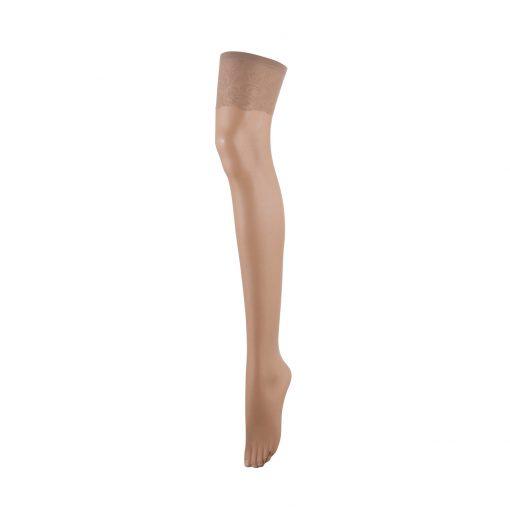 Матовые чулки с верхом из насыщенного кружева. Изящная кружевная лента комфортно обволакивает кожу. Созданы, чтобы визуально удлинять ноги. ฿499